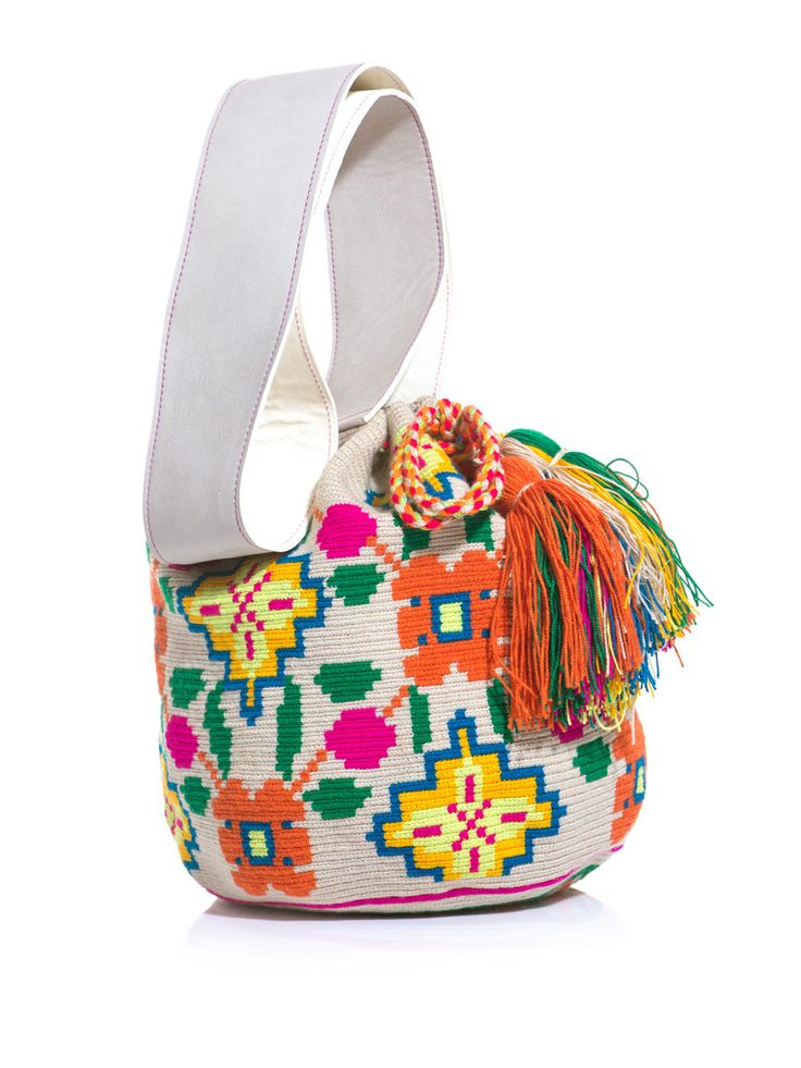 Sophia embroidered bucket bag | Sophie Anderson | MATCHESFASHI...