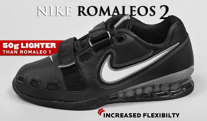 Nike Romaleos Ii Power Lifting Shoes Black White Cool Grey