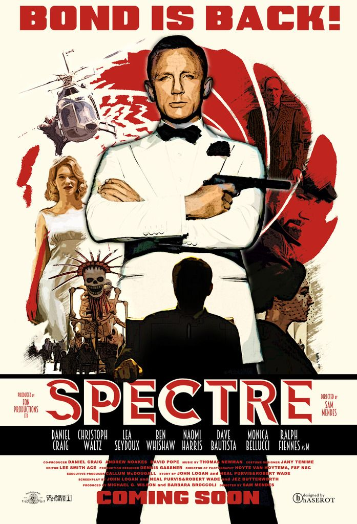 Spectre poster art by Haserot.