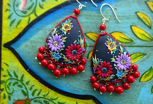 muy muy muy elegante mexican embroidery earrings by jennifermorris, via Flickr