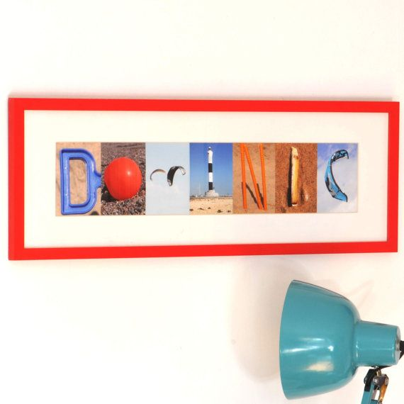 Alfabet Letter fotografie - gepersonaliseerde naam Print, Kids wand decor - hebben het Framed of Print alleen wij elke naam kunt maken.