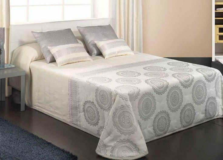 Colcha cruda y plata colchas pinterest - Colchas de cama ikea ...