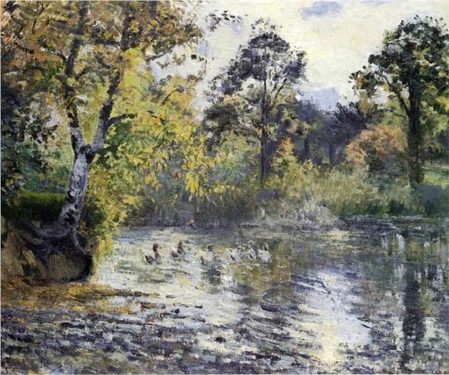 The Pond at Montfoucault - Camille Pissarro