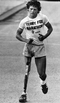 On Sept. 1, 1980, amputee Terry Fox was forced to stop his 5,000-mile run across Canada for cancer research after it was discovered that his bone cancer had spread to his lungs. He died 10 months later, but not before realizing his dream of raising one dollar for every person in Canada.