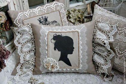 Купить Подушки декоративные в винтажном стиле. - декоративная подушка, подушка, для дома и интерьера, винтажный стиль