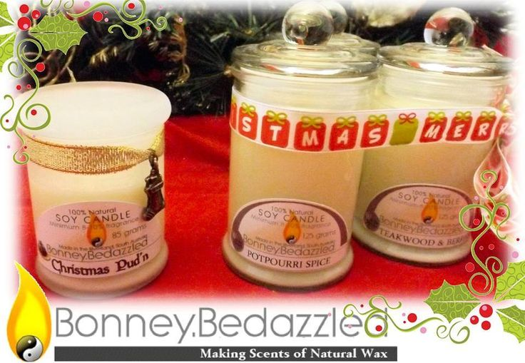 Handmade by Bonney BeDazzled Title: Hand Poured Eco-Soy Candles
