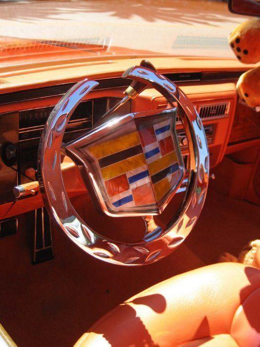 Strange Custom Cadillac Steering Wheel Wow Strange