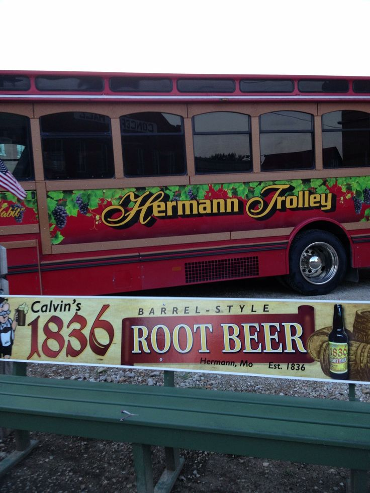 Hermann Trolley! Let them do the driving when you visit lovely Hermann, MO. Octoberfest in Hermann. I'll be there!!