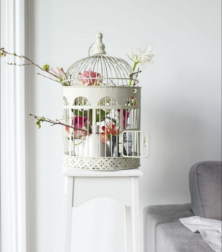 Inspiratie Balkon Frans Armoedig Vogel Kooi Vogelkooi Decoratie Decoraties Chique Woonkamer