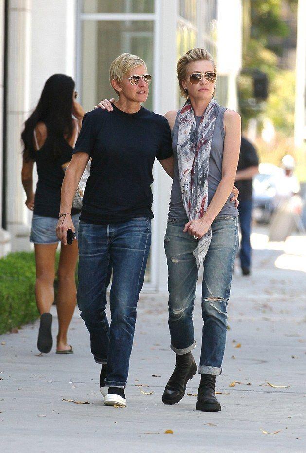 Ellen and Portia on a shopping trip on Merlose... - Ellen and Portia DeGeneres