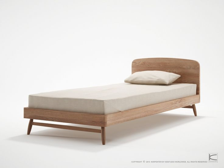 Twist Single Bed Teak Wood By Karpenter Simple Bed Designs Single Bed Single Size Bed