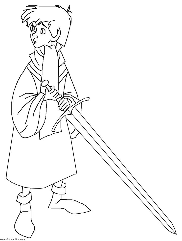 The Sword In Stone Coloring Page