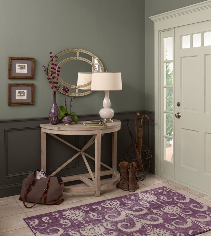 Purple Foyer Paint : Best images about baseboard same as wall on pinterest