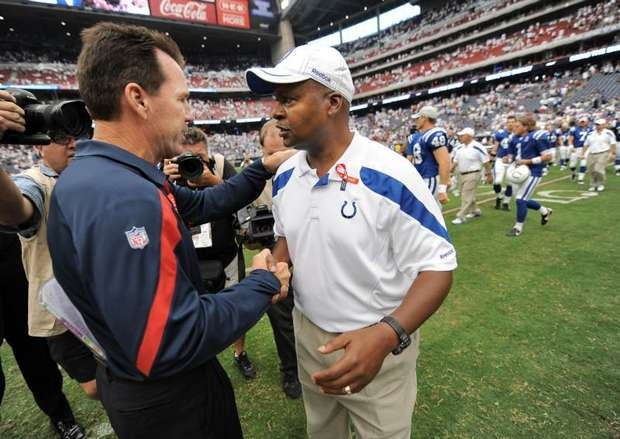 W1: 9/11/11 - v.s. Houston: Loss, 34-7    Jim Caldwell & Gary Kubiak
