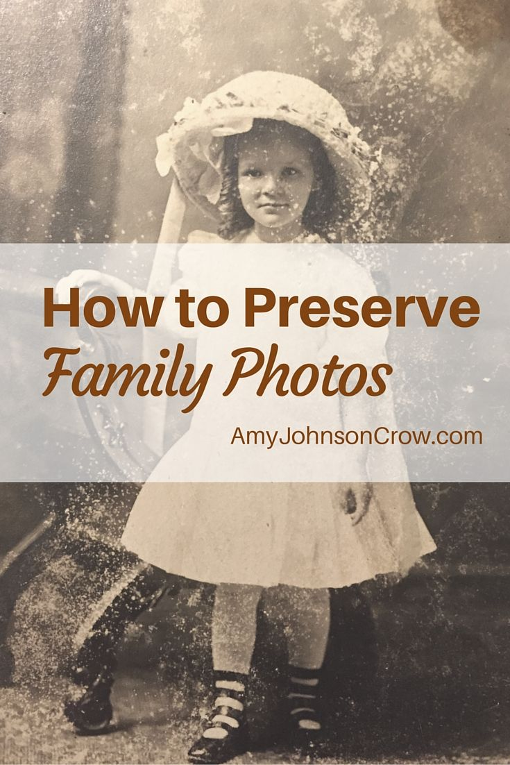 Preserving family photos is an important task. Learn how to keep these treasures safe with tips from Denise Levenick.