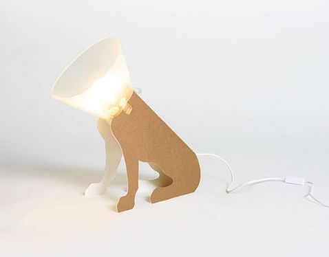 "lampa / lamp ""Pies salonowy"" projekt: Lapolka"