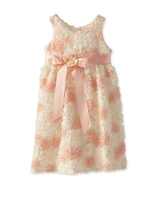 74% OFF C'est Chouette Couture Girl's Peaches N Cream Dress (Coral/Yellow)