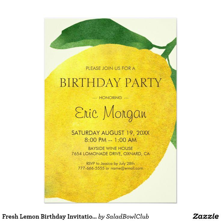 40 best Alexandra 2nd Birthday images on Pinterest Buntings, Lemon - fresh birthday party invitation designs