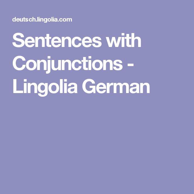 Sentences with Conjunctions - Lingolia German