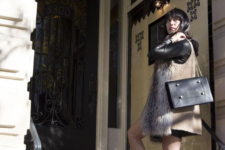 Manurina Black Narcissus Leather Handbag 2015 #Manurina #Black #Leather #Handbag #2015