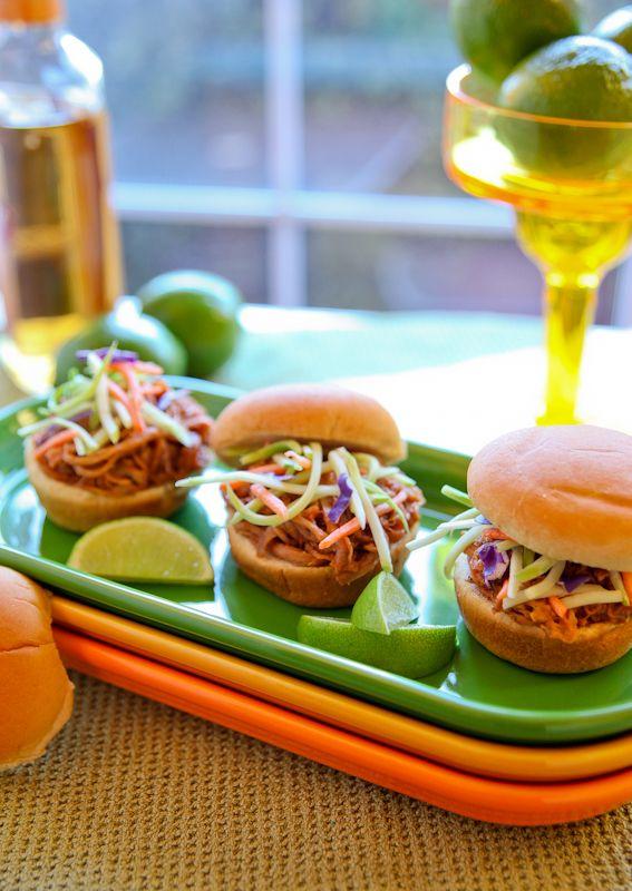 Tequila Lime Pork Bbq Sliders