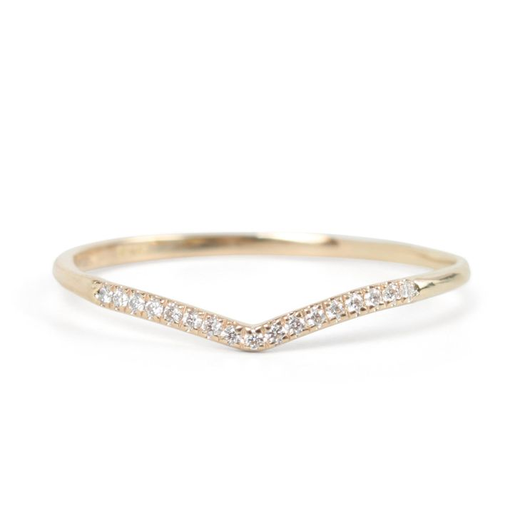 Fairy Light Curved Demi Pavé Pave Wedding Bandscurved