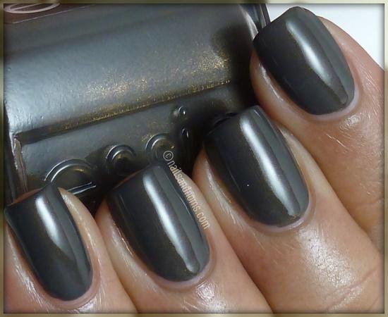 Gunmetal nails.