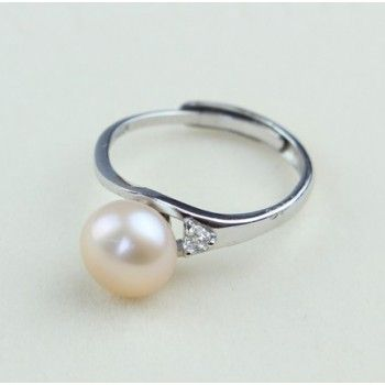 Natural Freshwater Pearl Adjustable Ring Opening