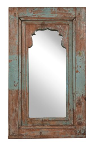 Antique Painted Window Frame Mirror