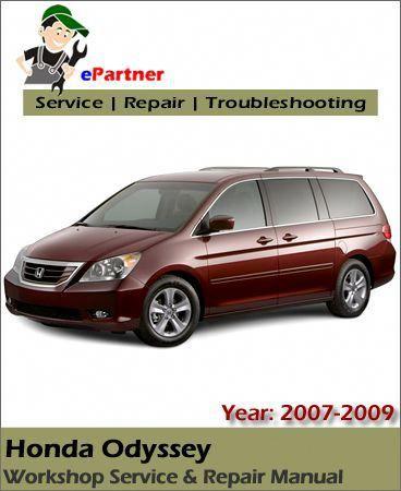 Download Honda Odyssey Service Repair Manual 2007 2009 Hondaodyssey