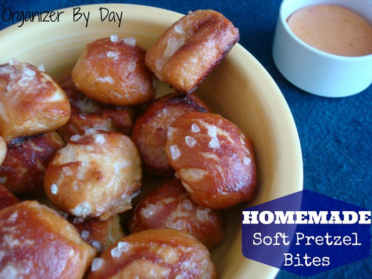 Homemade Soft Pretzel Bites with A Homemade #Cheese Sauce...two ...