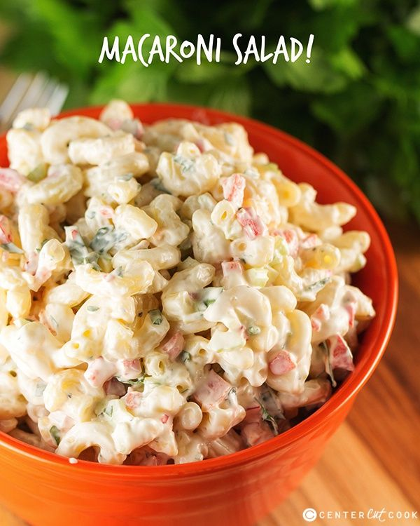Easy Macaroni Salad just like you'd get from the grocery store!