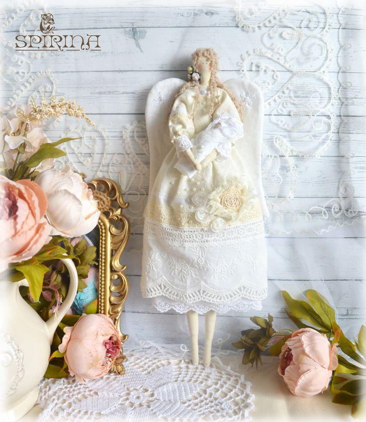 Guardian angel - Tilda Doll - Angel Tilda - Angel with baby