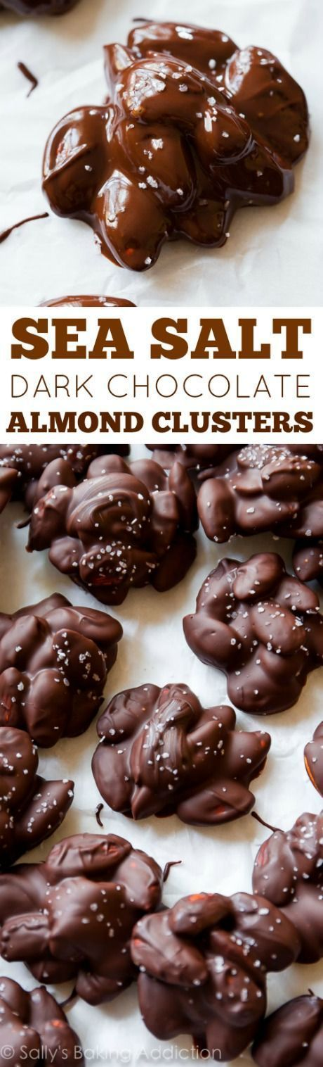 Just 4 ingredients in these addicting clusters. Toasting the almonds turns them up a notch! Recipe on sallysbakingaddic...
