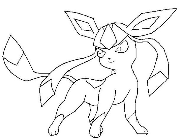 Pokemon Glaceon Coloring Pages Pokemon Coloring Pages Pokemon