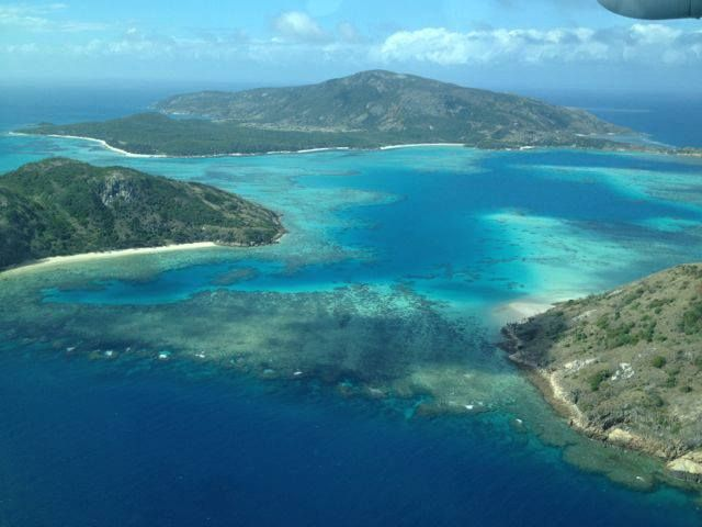 Flying into Lizard Island