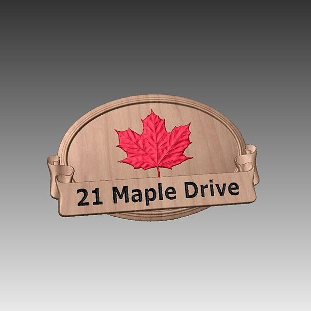 Canada Day - Some sign inspiration using the FREE clipart that comes with Vectrics Aspire #vectric #aspire #cnc #project #canadaday