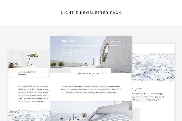 Light E-newsletter Pack by Swiss_cube on @creativemarket