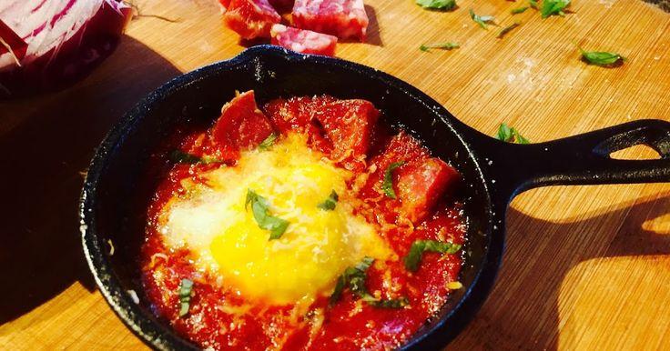 Tuscan Baked Egg recipe by Matthew Luca. Italian Baked Eggs.