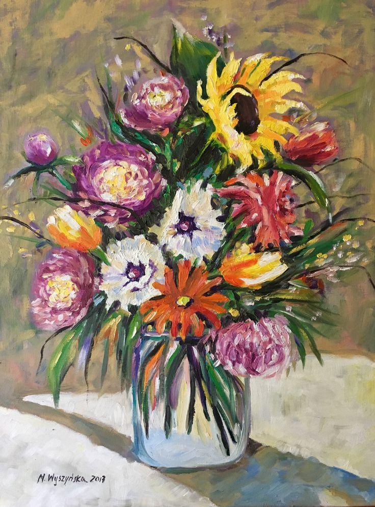 Oil painting Flowers Monika Wyszynska
