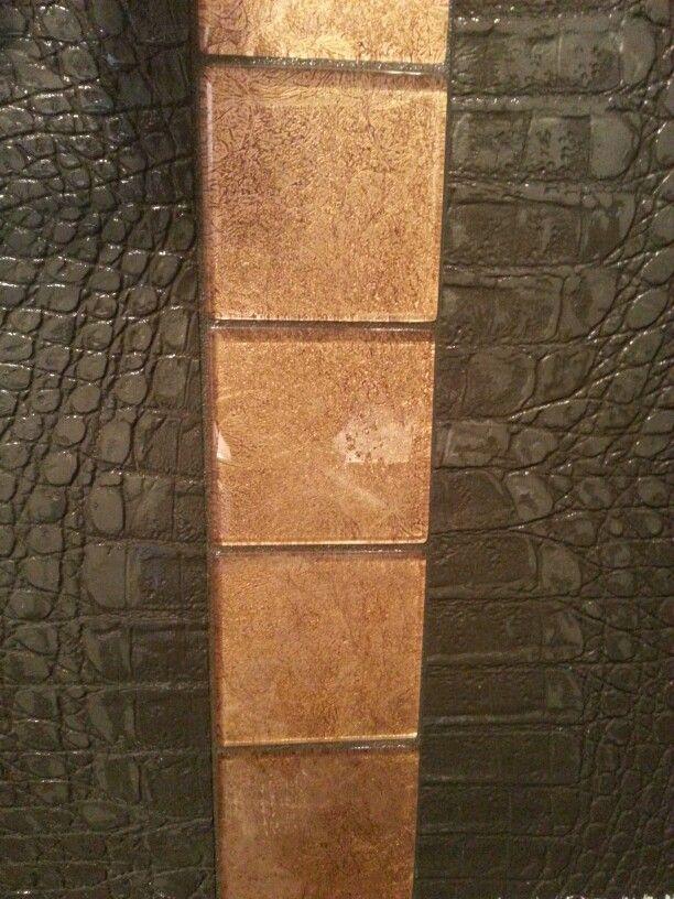 Bathroom tile, texture and colour