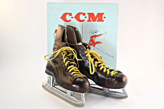 Hockey Skates, Vintage Hockey Skates, CCM Hockey Skates, Men's Hockey Skates, Sports Memorabilia, Man Cave Decor, Sports Theme Decor