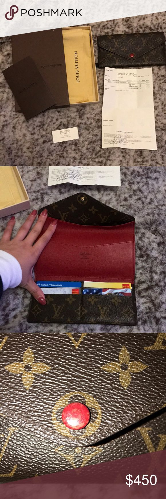 Louis Vuitton Wallet 2013 Authentic Louis Vuitton Wallet  Come with dustbag, box, Wallet, and receipt  Does not come with the coin pouchette  Little wear on the button  Good used condition Firm price Louis Vuitton Bags Wallets