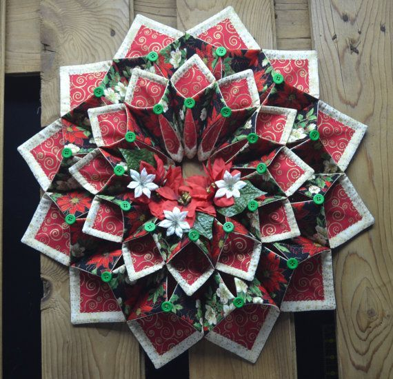 instructions for fold and stitch wreath