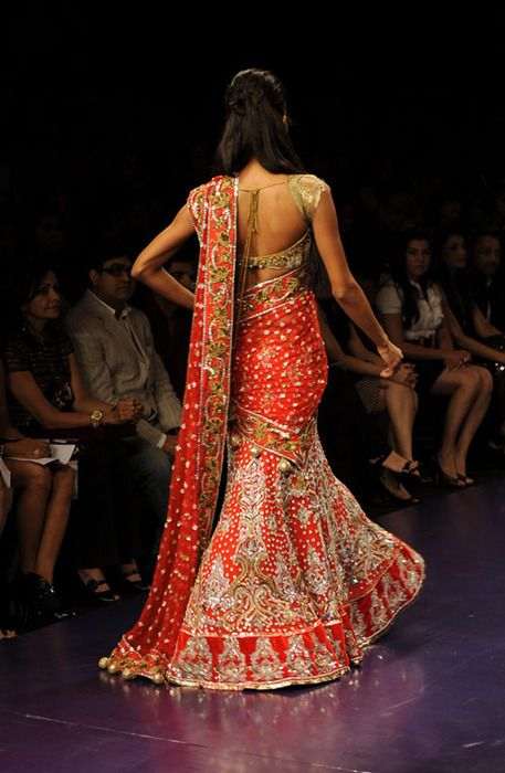red and gold lehenga.  Indian bridal