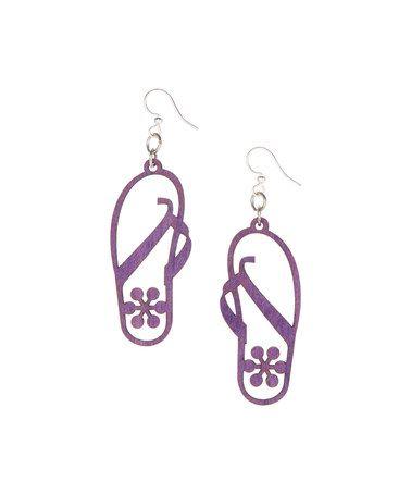 Another great find on #zulily! Purple Flip Flop Drop Earrings #zulilyfinds  $7.99