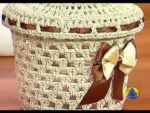 Cesto em Crochê Endurecido | Sabor de Vida - 04 de Setembro de 2012 - YouTube