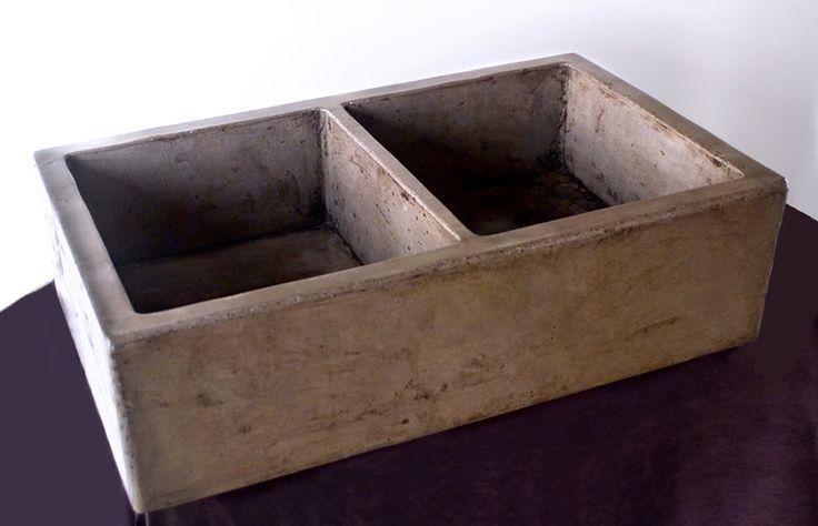 concrete farmhouse sink. LOVE it!