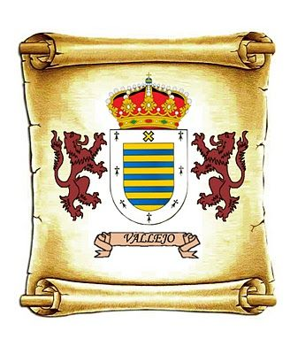 El origen del apellido Vallejo es el Valle de Mena, situado en el señorio de Viscaya, mas exactamente en el lugar de Vallejuelo, de donde se extendio a toda España donde despues se relaciono con muchos ilustres linajes como lo fueron los Villanueva, Diaz, Velasco y Cabeza de Vaca.