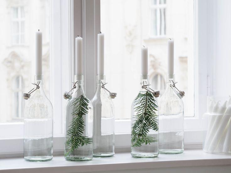 25 einzigartige einfache weihnachtsdekorationen ideen auf. Black Bedroom Furniture Sets. Home Design Ideas